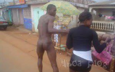 (Photo) Na*k*d Man Drags Prostitute Back To Hotel As She Tries To Runaway With His Money