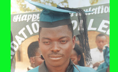 The deceased lunatic, Edwin Gyado who killed five of his victims on the day of his graduation