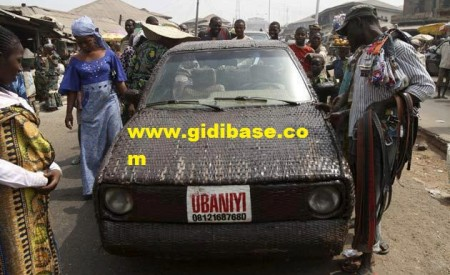 World's first hand-woven Car,Designed in Ibadan by Ojo Adeniyi
