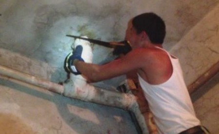 PICS : Baby Rescued Alive From A Toilet Pipe