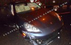 Pics: Wizkid involved in car accident this morning in his porsche