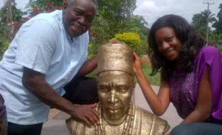 Nollywood Actor Olu Jacobs Gets Personal Statue In His Honor (Photo)