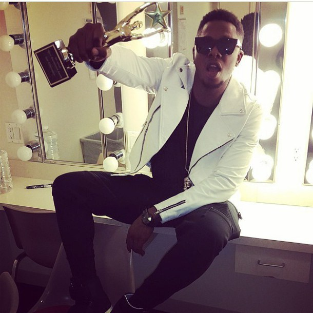 NEA 2014: Runtown And Oritse Femi Flaunt Award (See Photo)