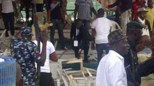 APC Members Throw Bottles At Each Other During Convention