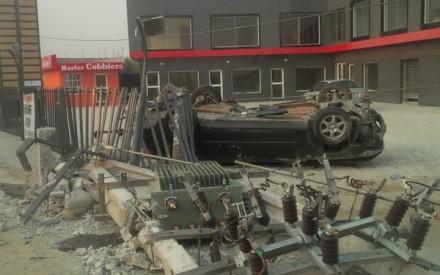 An Accident Involving A Drunk Driver At Ado Road, Lagos (Photo)