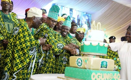 Buhari,Obasanjo,Lai Mohammed,others celebrate Ogun @ 40 | PHOTOS
