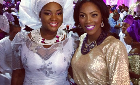 Toolz and Tiwa Savage Spotted in Dubai Fixing Nails Ahead of Oap's White Wedding