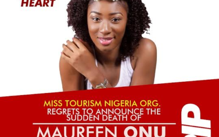 Miss Tourism Nigeria Beauty Pageant, Maureen Onu Is Dead