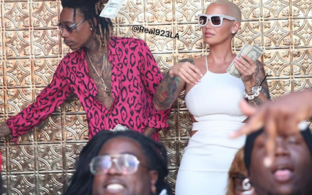 Wiz Khalifa & Amber Rose Celebrate Their Divorce By Visiting A Strip Club Together! {photos & Video]