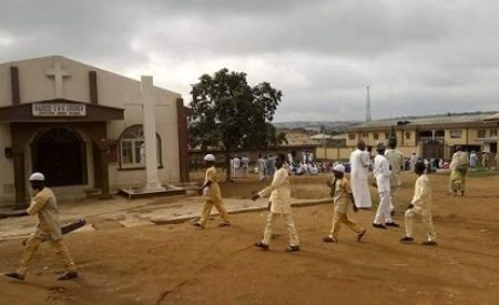 Photos: C&S Church In Ogun State Gave Their Premises To Islamic Worshippers To Hold Their Eid Prayers