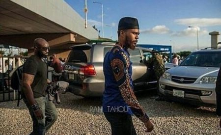 Rapper Jidenna Arrives Lagos