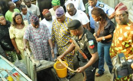 Diesel Discovered By Police In Lagos Wells, Arraign Owners
