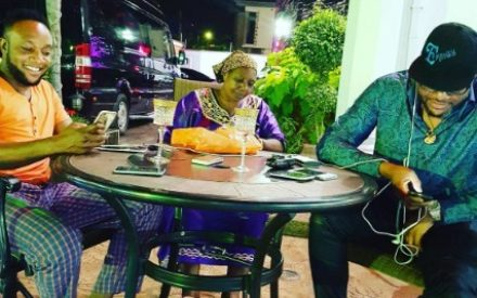 E-Money & Kcee Hang Out With Their Mum At E-Money's Five Star Mansion (Photos)