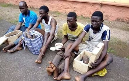 See How 4 Ritualists Were Arrested In Ogun With Human Heart (Photos)