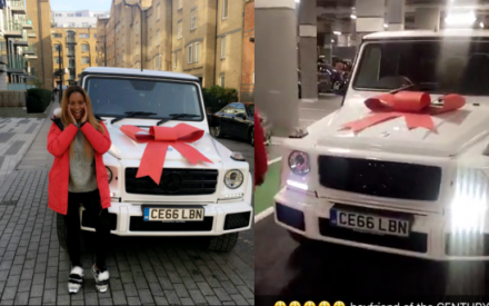 Photos : Dj Cuppy Gets a G-wagon From Her Boyfriend as a Birthday Present