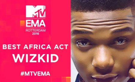 Wizkid Wins Best African Act at MTV Europe Music Awards 2016