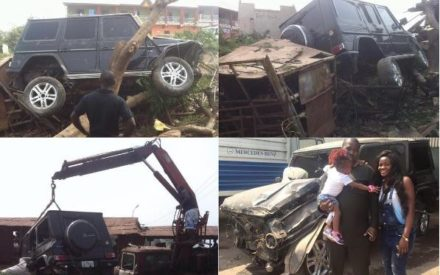 Nigerian Man Crashes G-wagon, Blames His Enemy for Accident