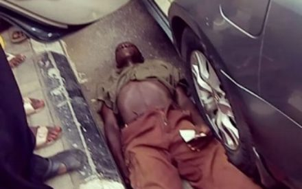 Video : Watch Lagos Beggar Pretend To Be Dying After He Was Caught Lying