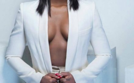 Tiwa Savage Shows Off Brezz in a Pair of White Suit | Photos