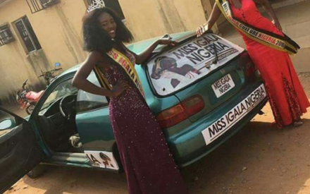 Lmao!! Check Out the Honda Civic Model Presented to a Winner of a Beauty Pageant in Plateau State   Photos