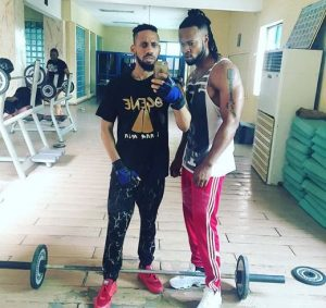 Flavour Pay A Visit To Phyno Mansion With His Beautiful Daughter